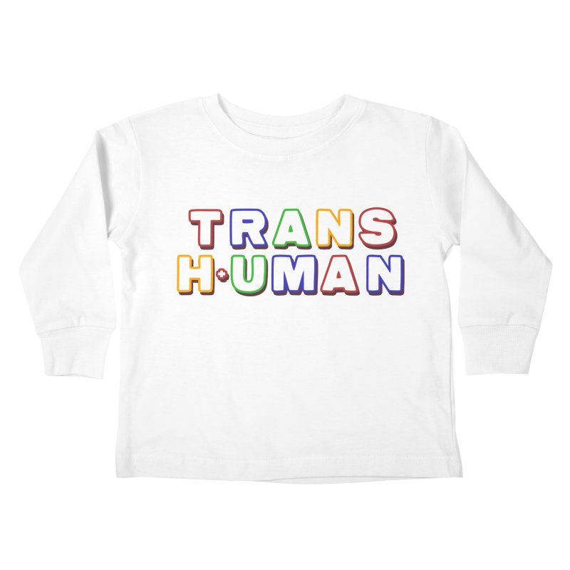 Transhuman 2 - Multi Colored Kids Toddler Longsleeve T-Shirt by Transhuman Shop