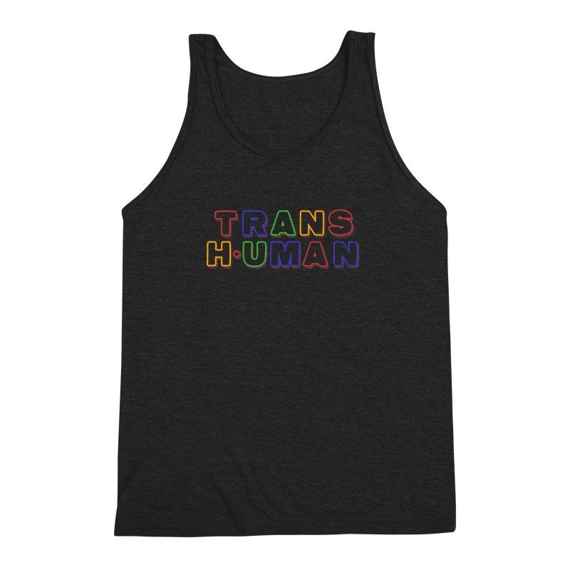 Transhuman 2 - Multi Colored Men's Triblend Tank by Transhuman Shop