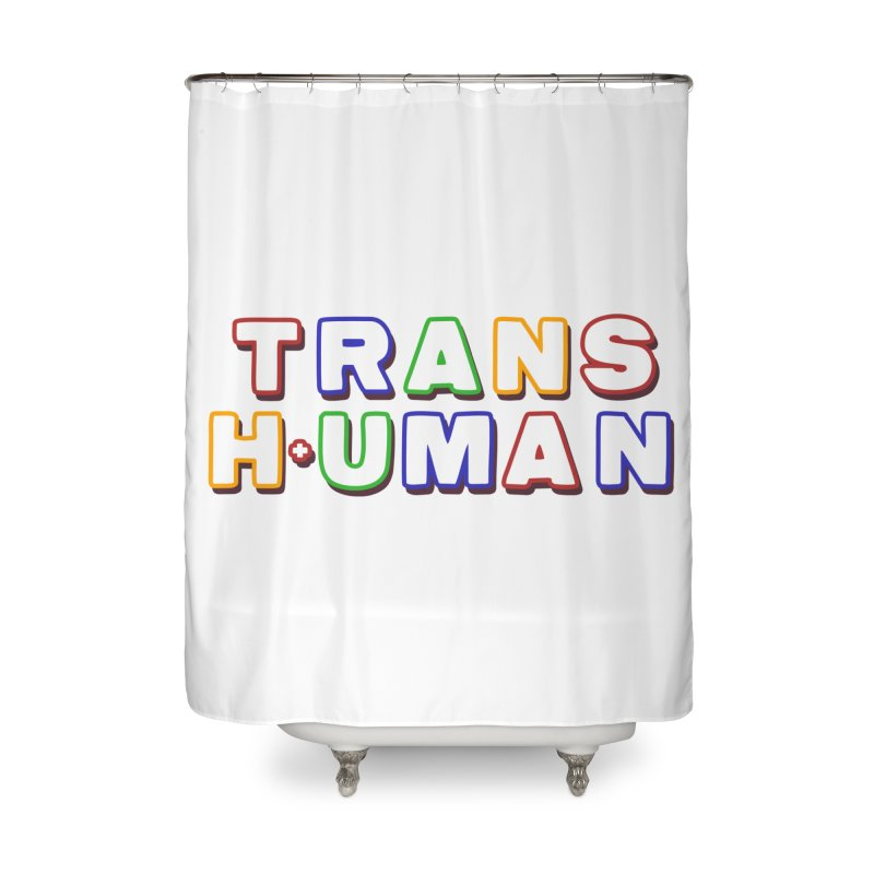 Transhuman 2 - Multi Colored Home Shower Curtain by Transhuman Shop