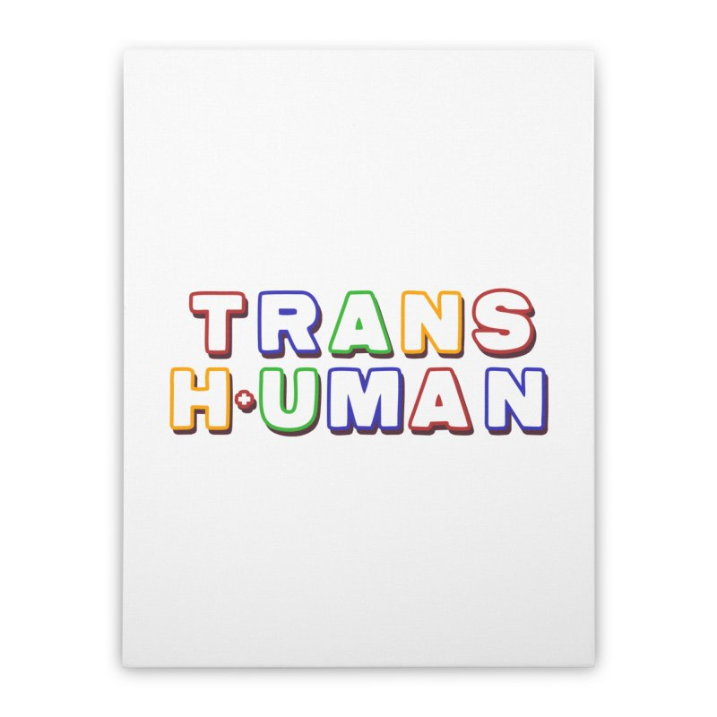 Transhuman 2 - Multi Colored Home Stretched Canvas by Transhuman Shop