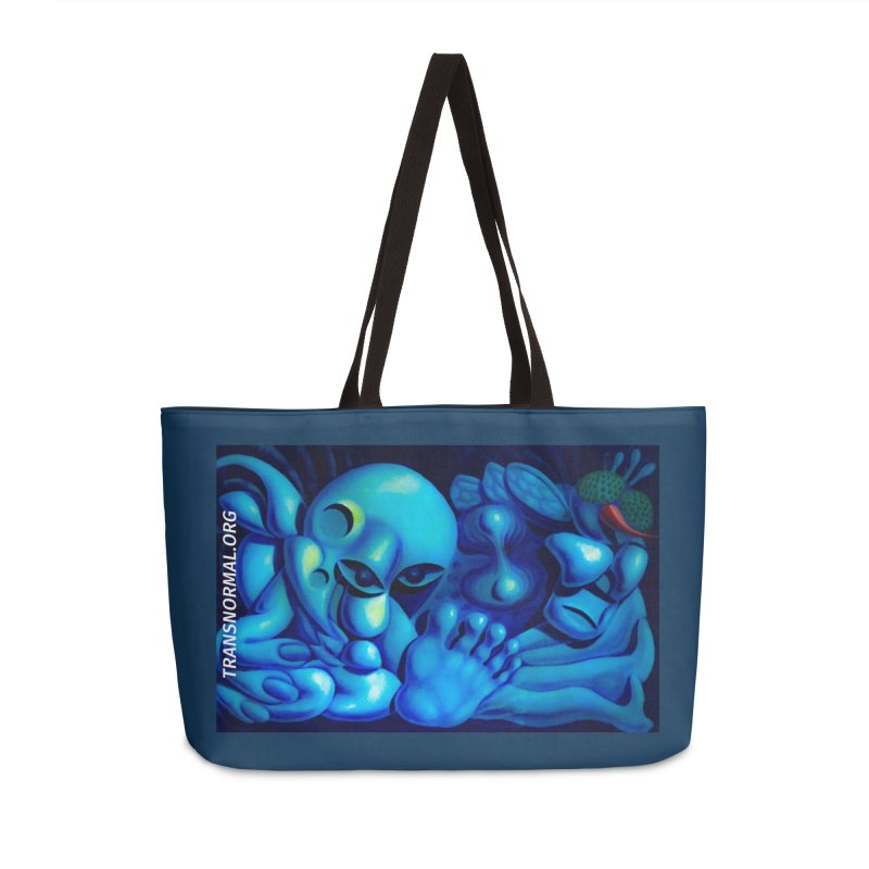 Don't touch my Mushroom! Accessories Weekender Bag Bag by transnormal's Artist Shop