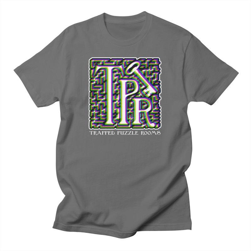 TPR Color Split Men's T-Shirt by Trapped Puzzle Rooms