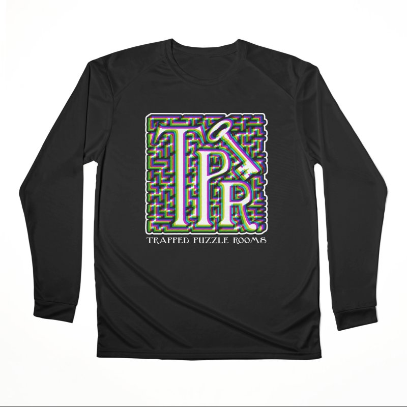 TPR Color Split Men's Longsleeve T-Shirt by Trapped Puzzle Rooms