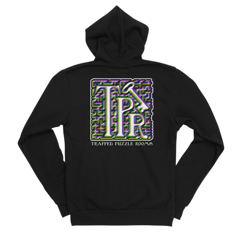 TPR Color Split Men's Zip-Up Hoody by Trapped Puzzle Rooms