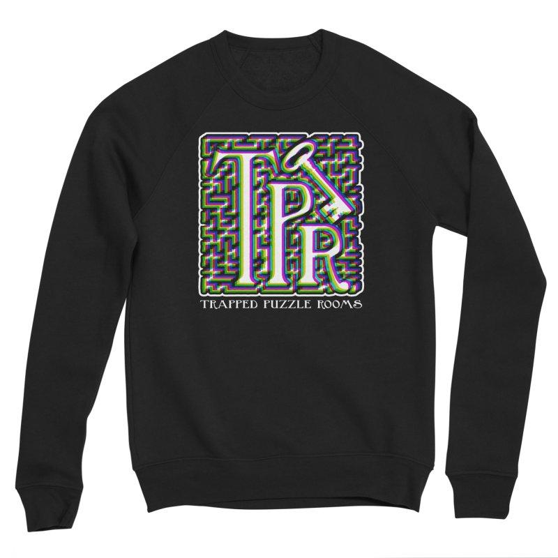 TPR Color Split Men's Sweatshirt by Trapped Puzzle Rooms