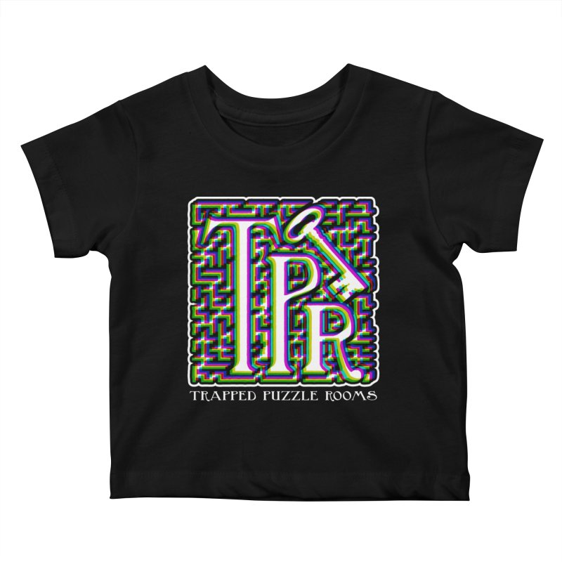 TPR Color Split Kids Baby T-Shirt by Trapped Puzzle Rooms