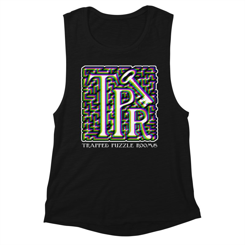 TPR Color Split Women's Tank by Trapped Puzzle Rooms
