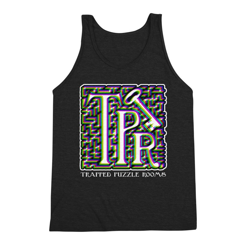 TPR Color Split Men's Tank by Trapped Puzzle Rooms