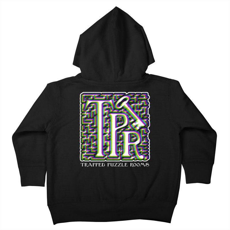 TPR Color Split Kids Toddler Zip-Up Hoody by Trapped Puzzle Rooms