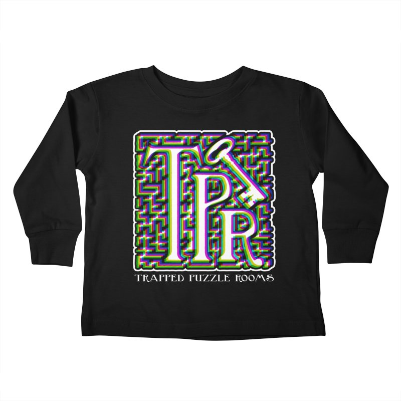 TPR Color Split Kids Toddler Longsleeve T-Shirt by Trapped Puzzle Rooms