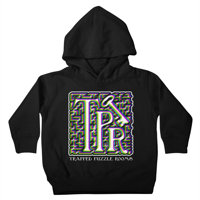 TPR Color Split Kids Toddler Pullover Hoody by Trapped Puzzle Rooms