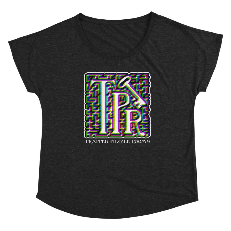 TPR Color Split Women's Scoop Neck by Trapped Puzzle Rooms