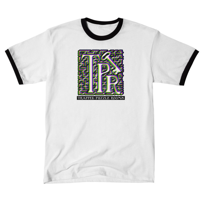 TPR Color Split on light Men's T-Shirt by Trapped Puzzle Rooms