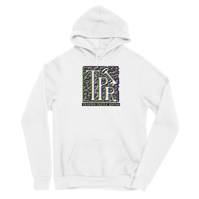 TPR Color Split on light Men's Pullover Hoody by Trapped Puzzle Rooms