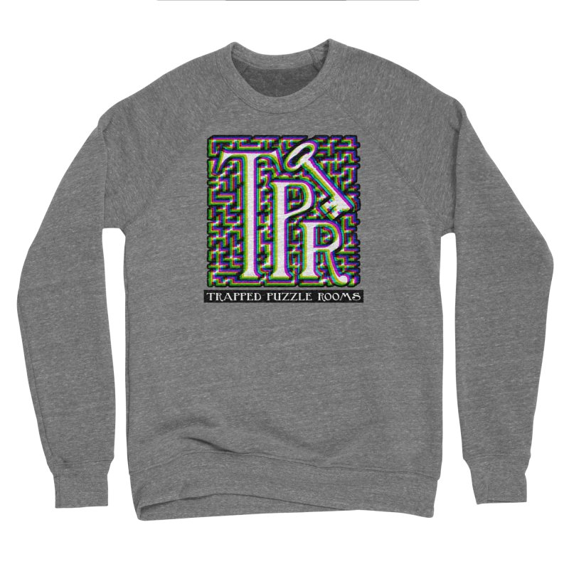 TPR Color Split on light Men's Sweatshirt by Trapped Puzzle Rooms