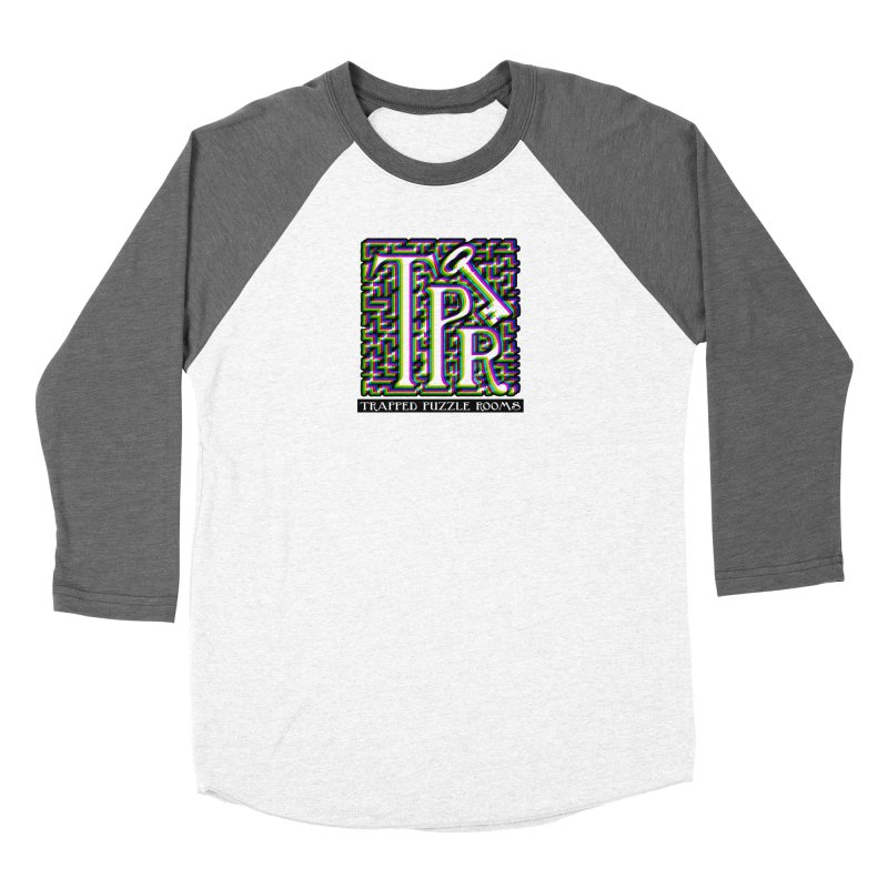 TPR Color Split on light Women's Longsleeve T-Shirt by Trapped Puzzle Rooms