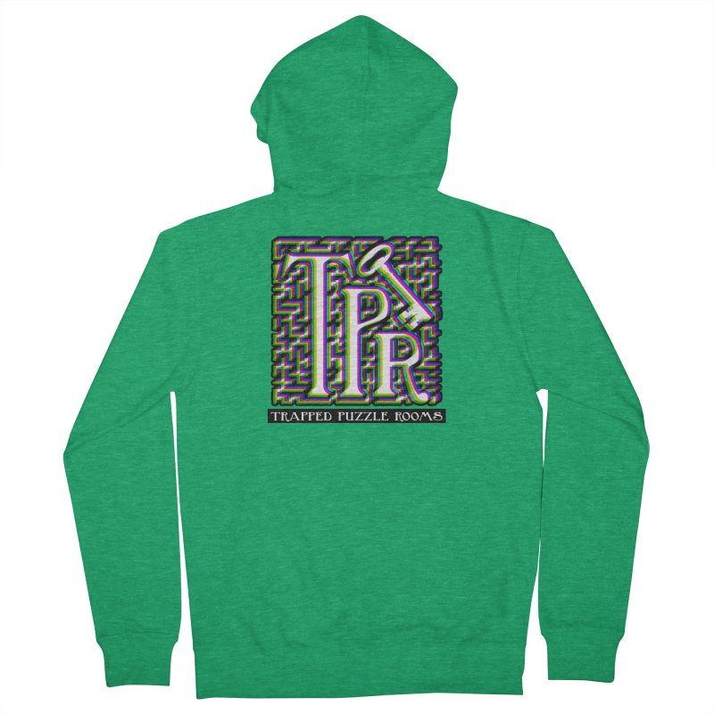TPR Color Split on light Men's Zip-Up Hoody by Trapped Puzzle Rooms