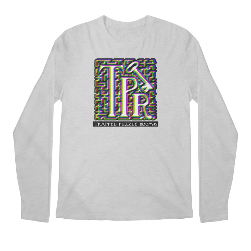 TPR Color Split on light Men's Longsleeve T-Shirt by Trapped Puzzle Rooms