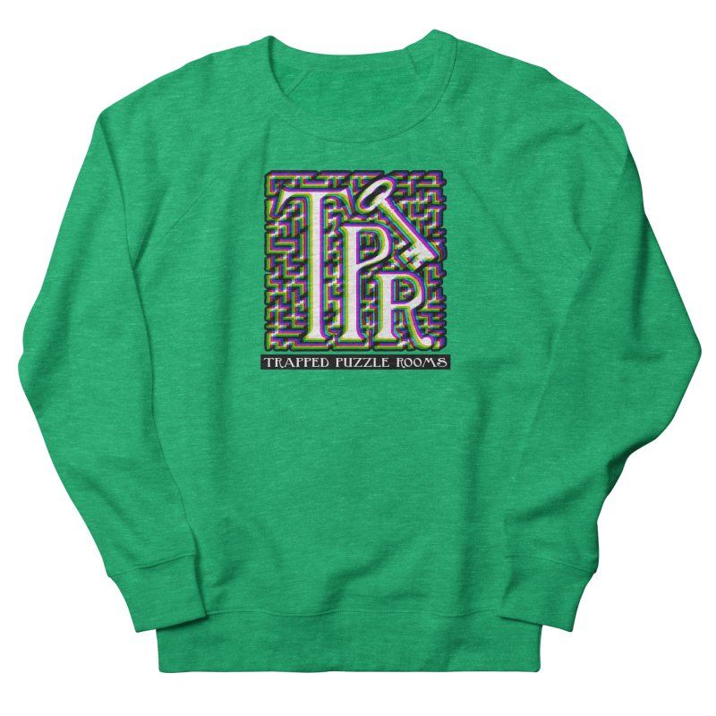 TPR Color Split on light Women's Sweatshirt by Trapped Puzzle Rooms