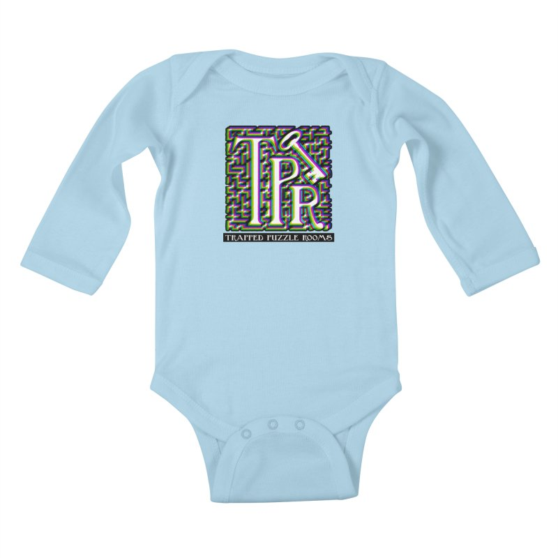 TPR Color Split on light Kids Baby Longsleeve Bodysuit by Trapped Puzzle Rooms