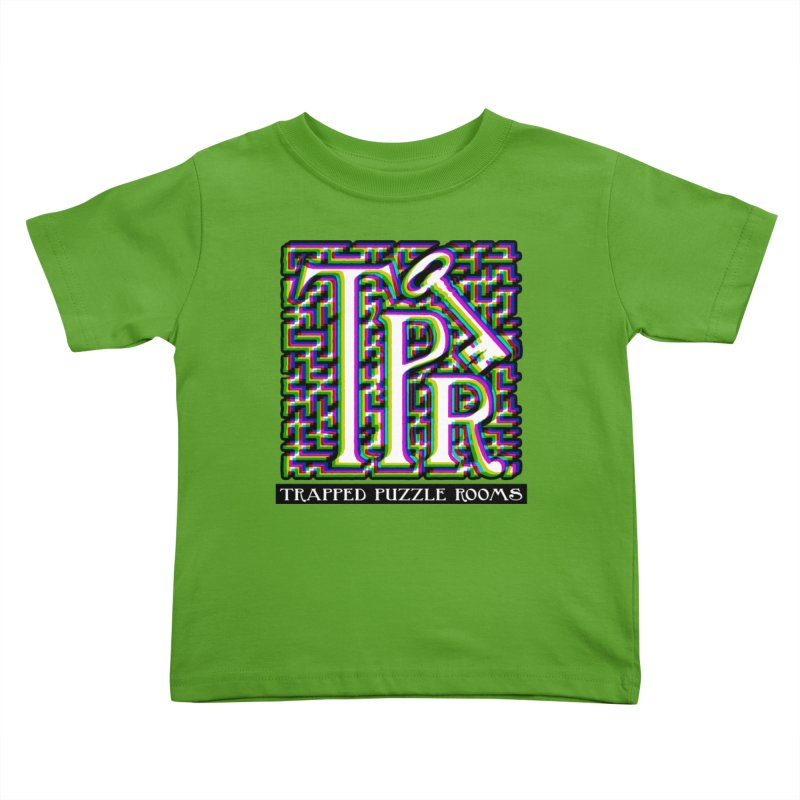 TPR Color Split on light Kids Toddler T-Shirt by Trapped Puzzle Rooms