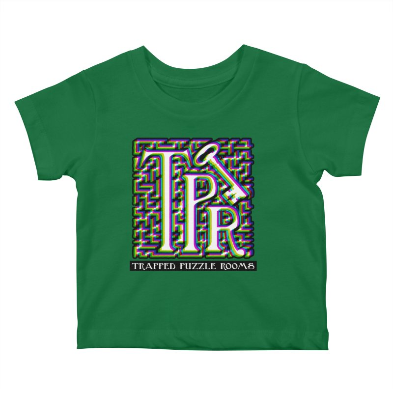 TPR Color Split on light Kids Baby T-Shirt by Trapped Puzzle Rooms