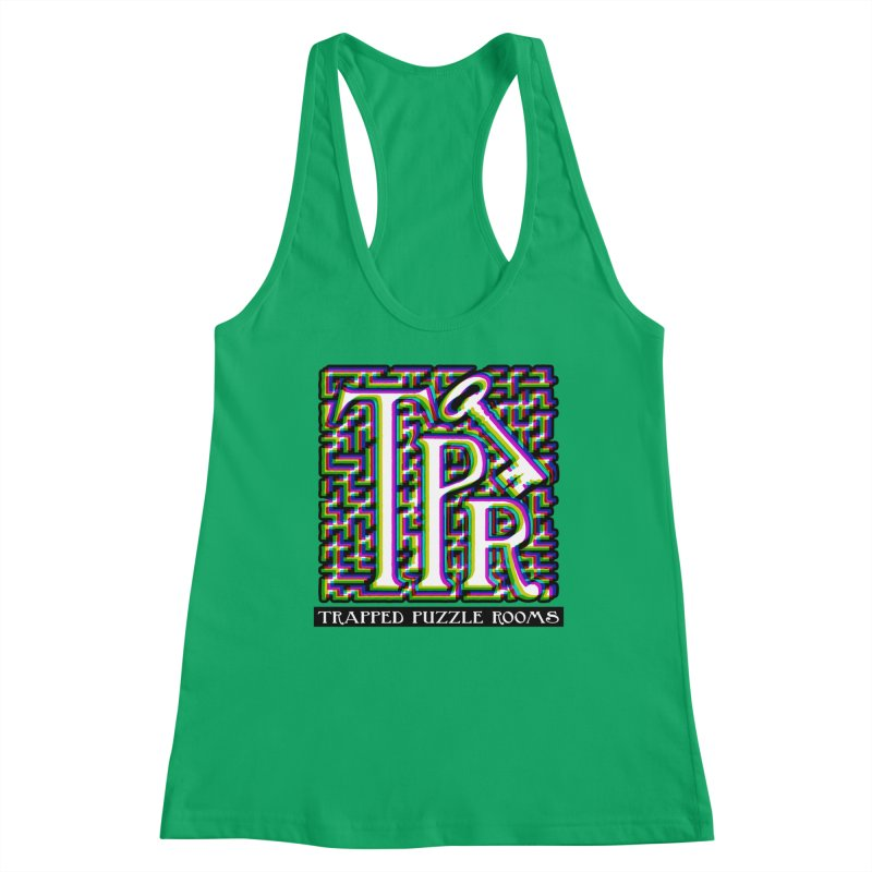 TPR Color Split on light Women's Tank by Trapped Puzzle Rooms