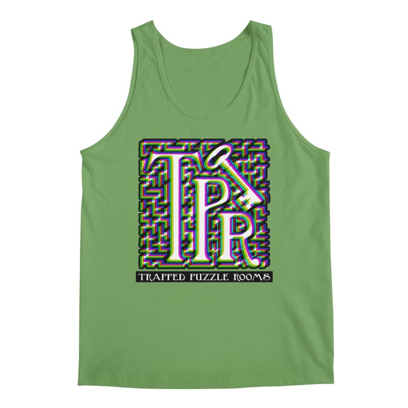 TPR Color Split on light Men's Tank by Trapped Puzzle Rooms