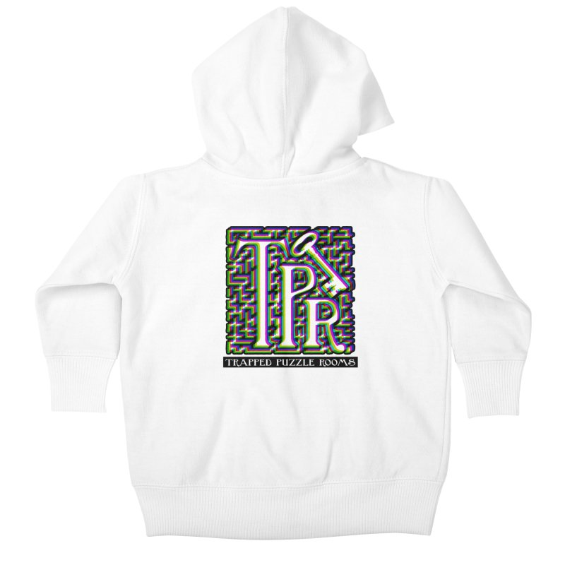 TPR Color Split on light Kids Baby Zip-Up Hoody by Trapped Puzzle Rooms