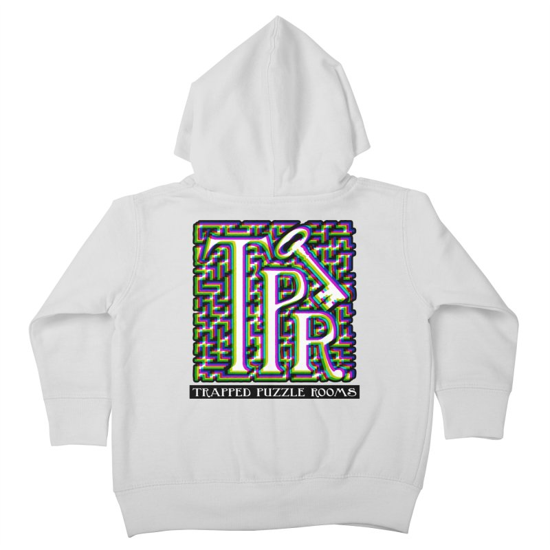 TPR Color Split on light Kids Toddler Zip-Up Hoody by Trapped Puzzle Rooms