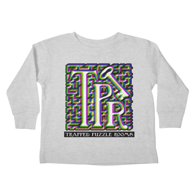 TPR Color Split on light Kids Toddler Longsleeve T-Shirt by Trapped Puzzle Rooms