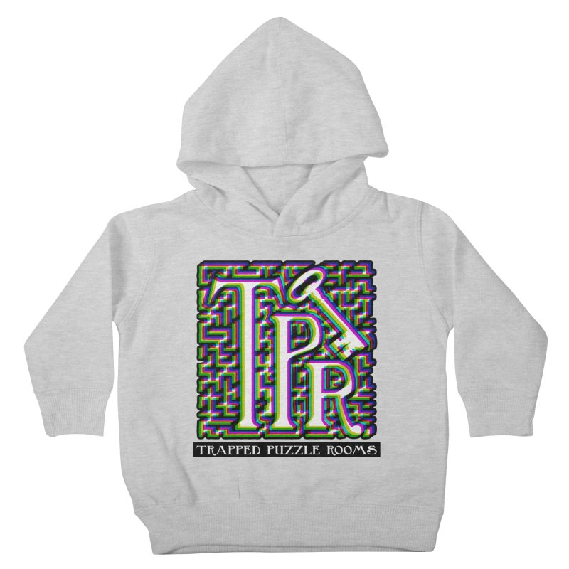 TPR Color Split on light Kids Toddler Pullover Hoody by Trapped Puzzle Rooms