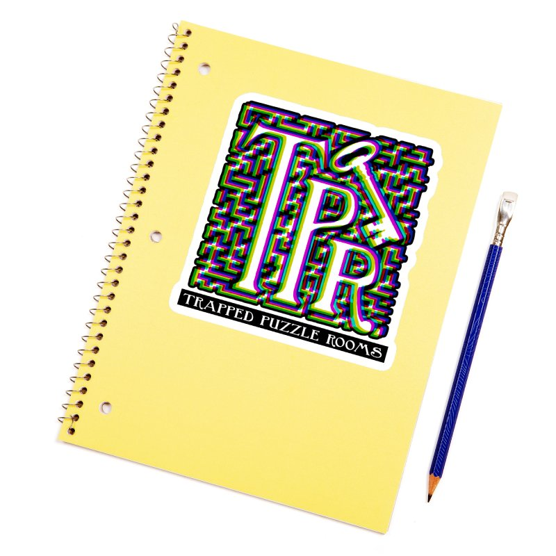 TPR Color Split on light Accessories Sticker by Trapped Puzzle Rooms