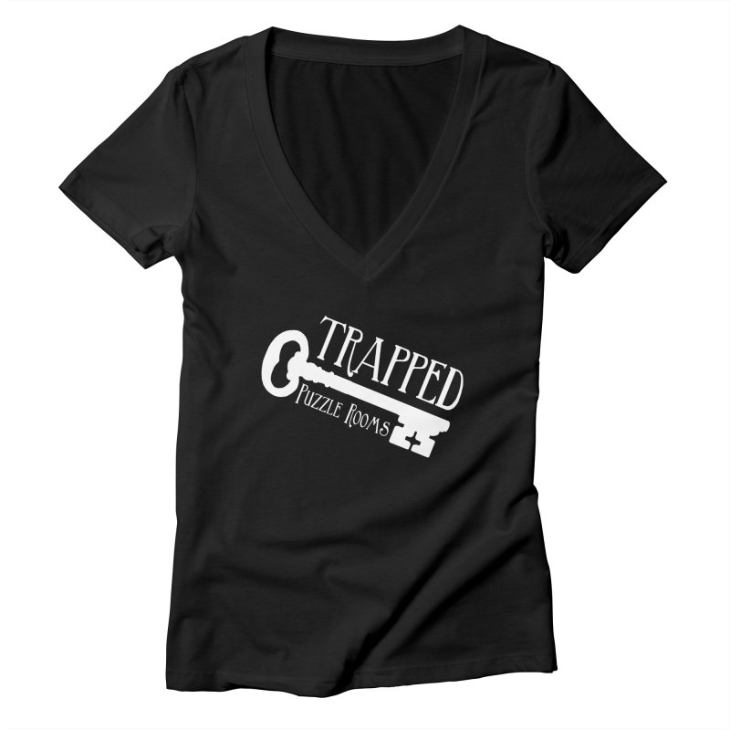 Trapped Puzzle Rooms Classic Women's V-Neck by Trapped Puzzle Rooms
