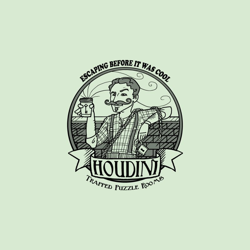 Houdini Hipster Accessories Sticker by Trapped Puzzle Rooms