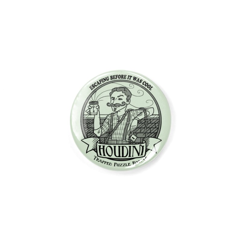 Houdini Hipster Accessories Button by Trapped Puzzle Rooms