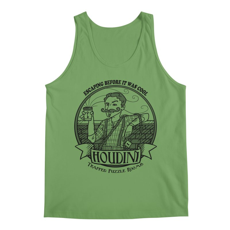 Houdini Hipster Men's Tank by Trapped Puzzle Rooms