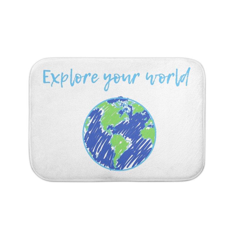 Explore your world Home Bath Mat by TC's Locker