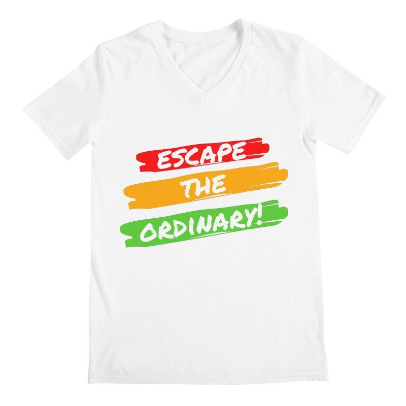 Escape the Ordinary Men's V-Neck by TC's Locker