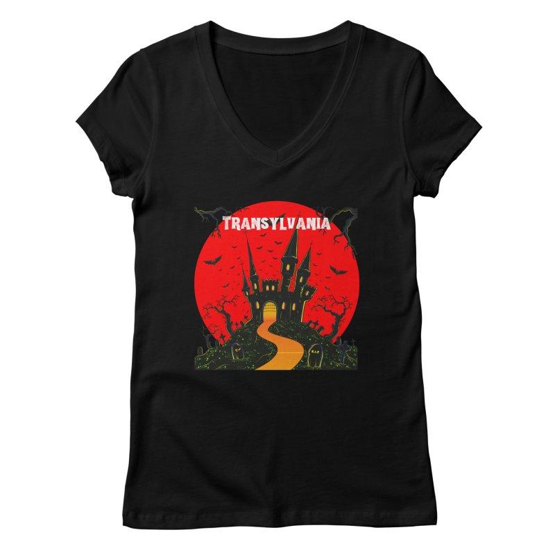 Castle Transylvania Women's V-Neck by TC's Locker