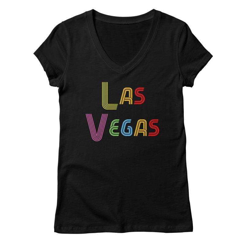 Las Vegas Women's V-Neck by TC's Locker