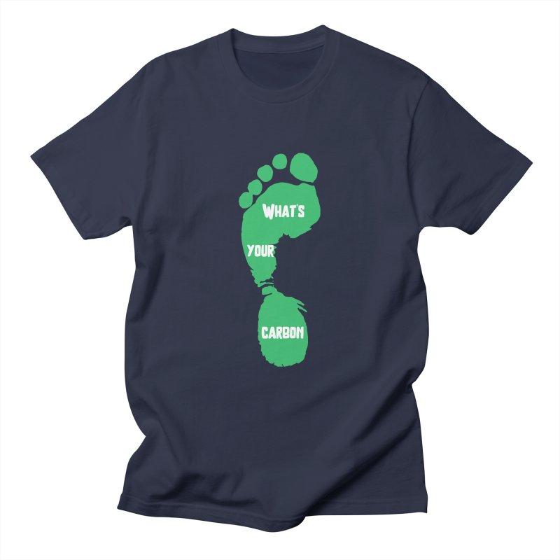 What's your Carbon Footprint? Men's T-Shirt by TC's Locker