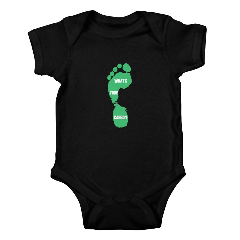 What's your Carbon Footprint? Kids Baby Bodysuit by TC's Locker