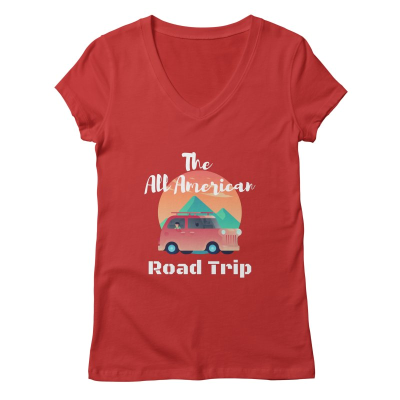 The All American Road Trip Women's V-Neck by TC's Locker