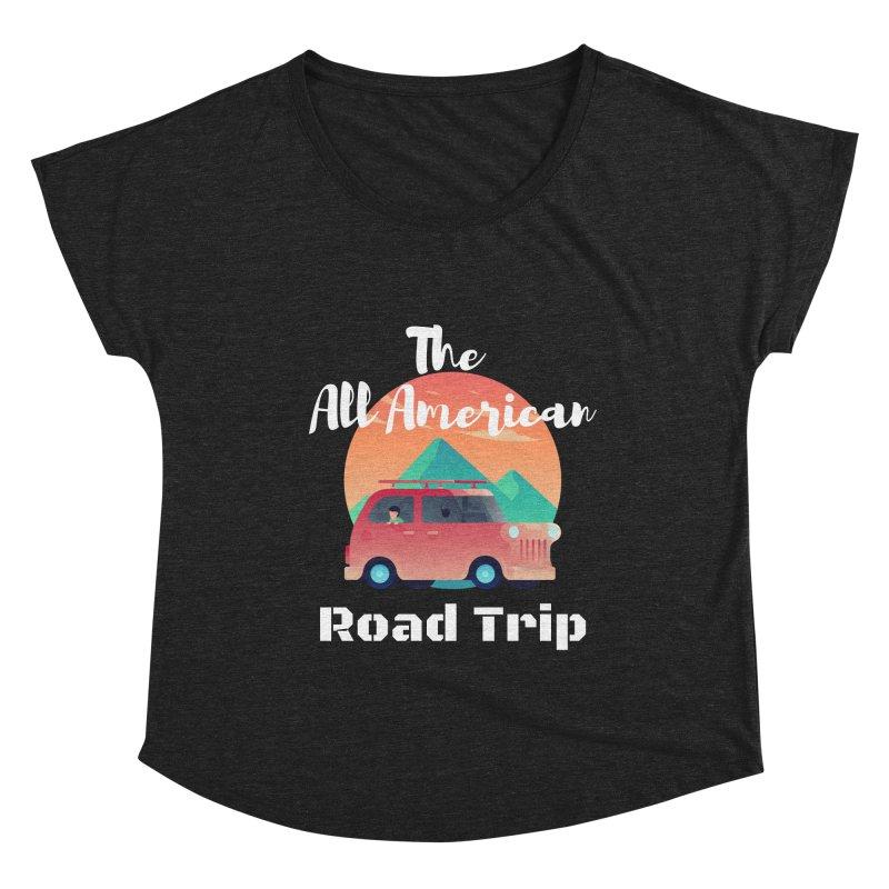 The All American Road Trip Women's Scoop Neck by TC's Locker