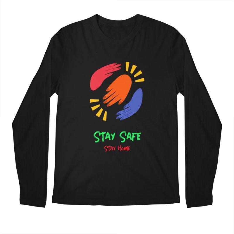 Stay Safe, Stay Home Men's Longsleeve T-Shirt by TC's Locker