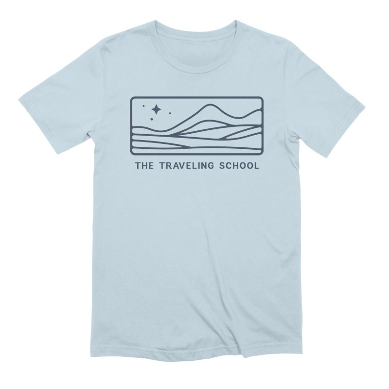 TTS Horizontal Logo in Men's Extra Soft T-Shirt Baby Blue by The Traveling School Apparel Shop