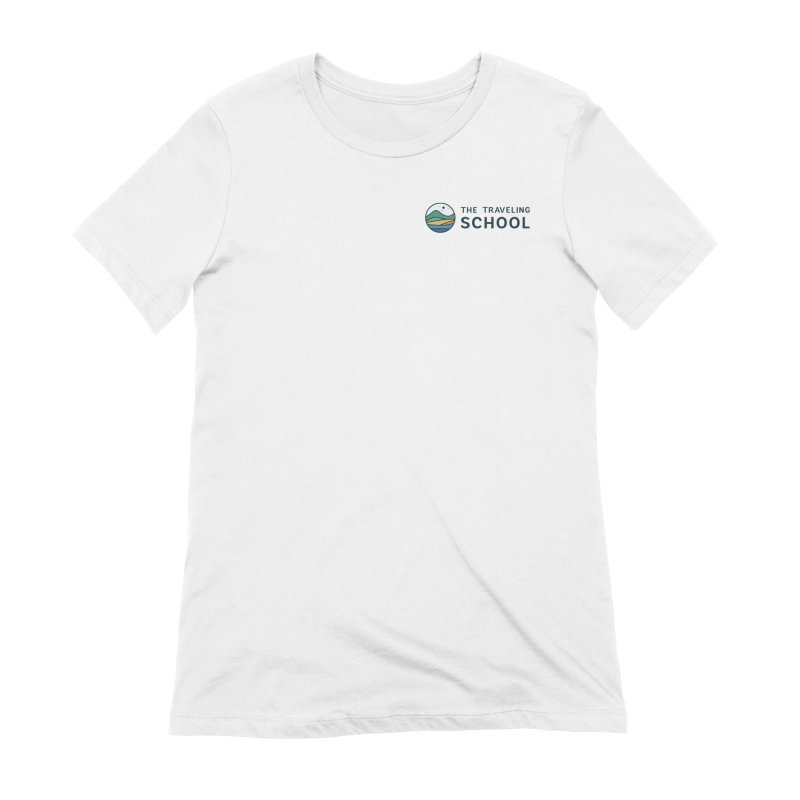 TTS Round Color Logo in Women's Extra Soft T-Shirt White by The Traveling School Apparel Shop