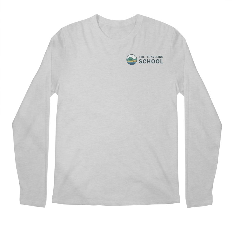 TTS Round Color Logo in Men's Regular Longsleeve T-Shirt Heather Grey by The Traveling School Apparel Shop