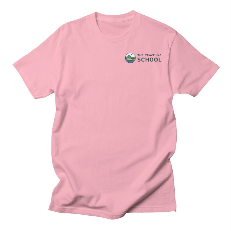 TTS Round Color Logo in Women's Regular Unisex T-Shirt Light Pink by The Traveling School Apparel Shop